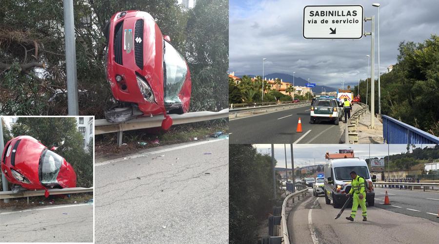 Accidente via de Servicio de Sabinillas