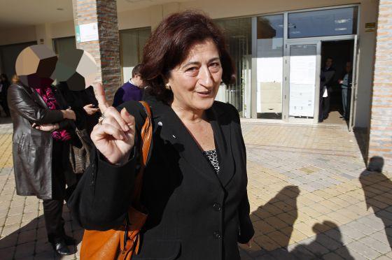 Antonia Muñoz saliendo de los Juzgados de Estepona (imagen de archivo)