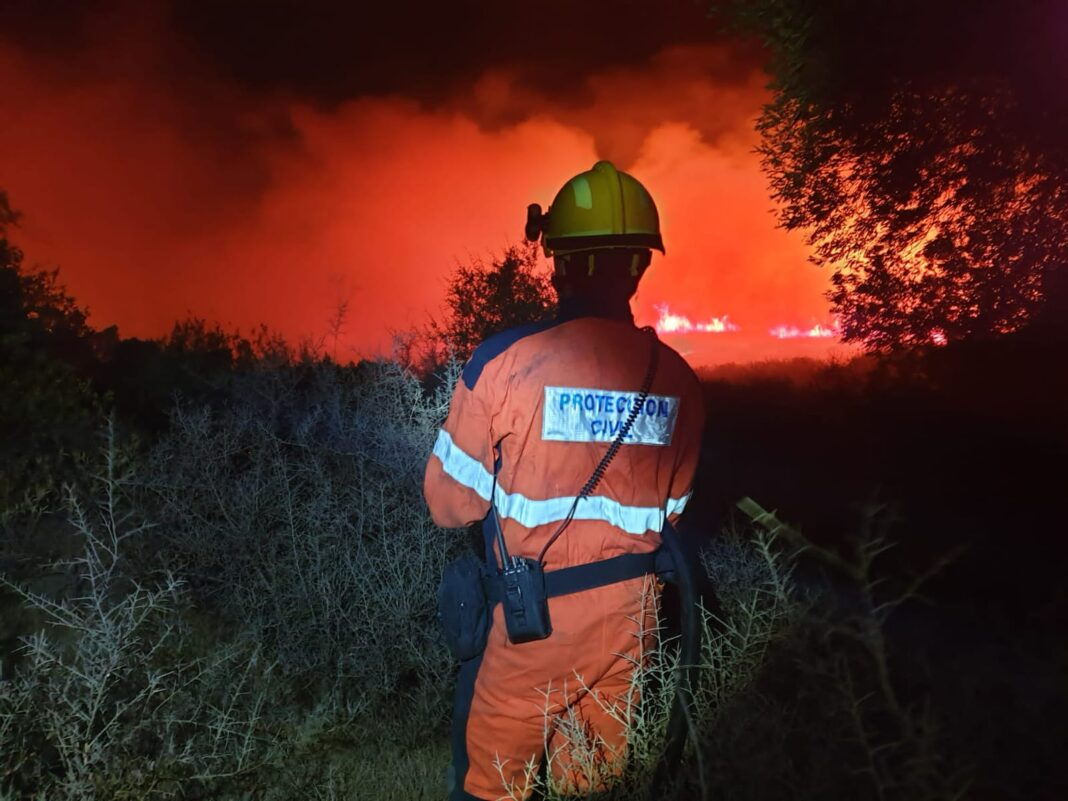 Incendio zona Pajaritos