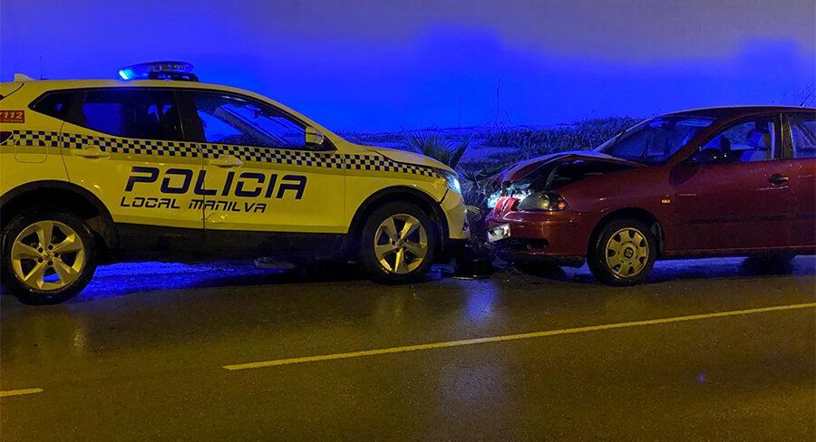 accidente coche policia local